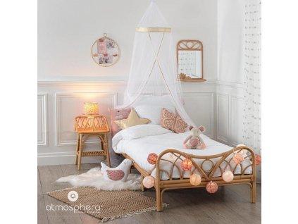 Dekorační polštáře pro děti, motýl, 36 x 28,5 cm, růžové zlato
