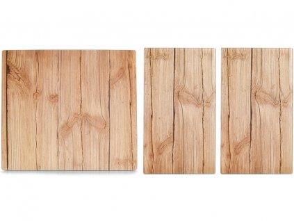 sada sklenenych desek na sporak wood