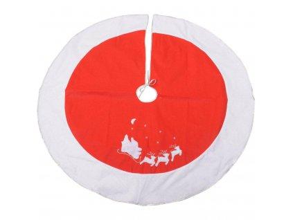 Koberec pod stromeček SLEIGHT, Ø 120 cm, červený