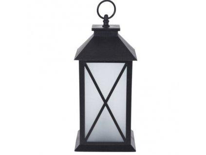 Černá dekorativní lucerna GLOW s LED osvětlením