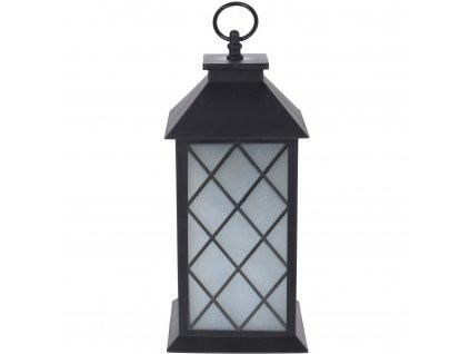 Černá lucerna GLOW s LED osvětlením, dekorativní