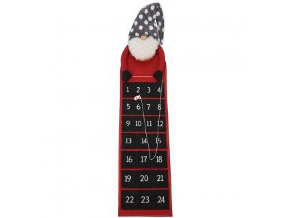 Adventní kalendář TRPASLÍK, 130 cm, černý
