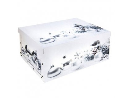 Dárková vánoční krabička, bílá