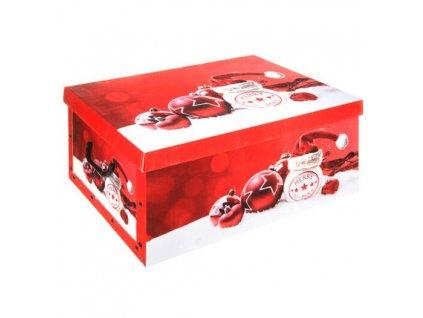 Dárková vánoční krabička, červená
