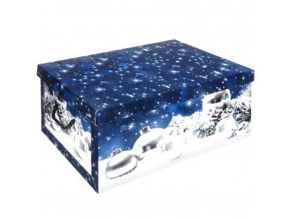 Dárková vánoční krabička, modrá