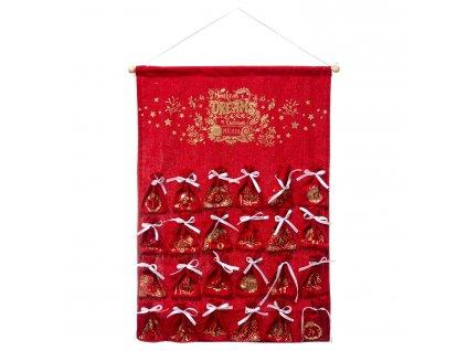 Adventní kalendář s kapsičkami