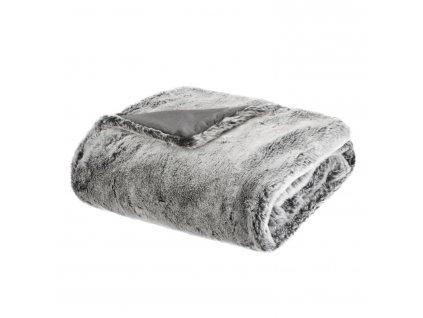 Kožešinová šedá deka, 125 x 150 cm