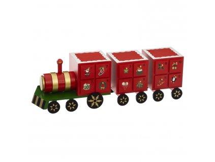 Adventní kalendář - dřevěný vlak