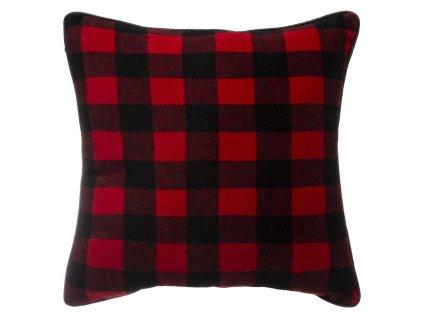 Červený polštář, polyester, 45 x 45 cm