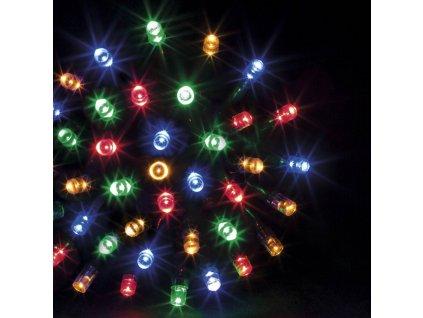 Vánoční venkovní řetěz, barevný, 100 diod