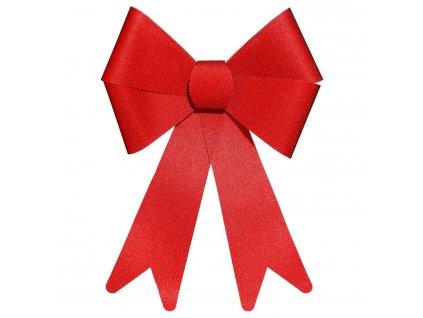 Dekorativní mašle, třpytivá, červená, 30 x 19 cm
