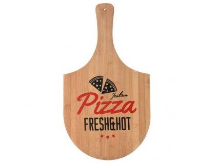 Prkénko na pizzu PIZZA FRESH&HOT, bambus