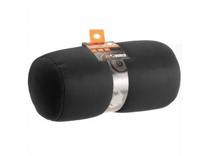 Polštář pod hlavu, turistický polštář, černá barva, délka 34 cm
