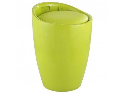 Taburet  CANDY LIGHT GREEN - koš na prádlo, 2 v 1 , WENKO