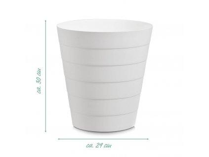 Koš k použití na kancelářský odpad, 30 x 29 cm, 14 l, bílá barva, ZELLER