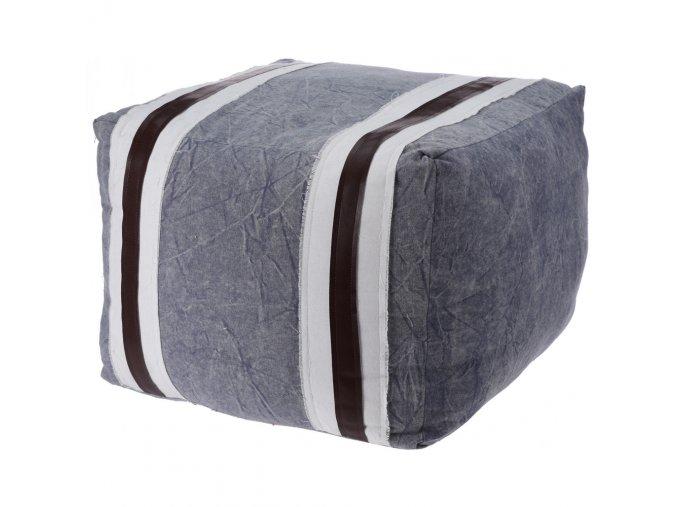 Bavlněný taburet, sedátko, opěrka nohou - 45 x 35 cm