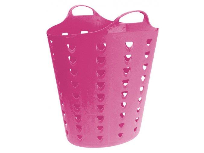 Růžový koš na prádlo CONFETTI