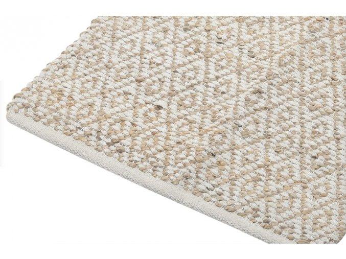 Dekorativní koberec z bavlny v béžové barvě, 120x180 cm