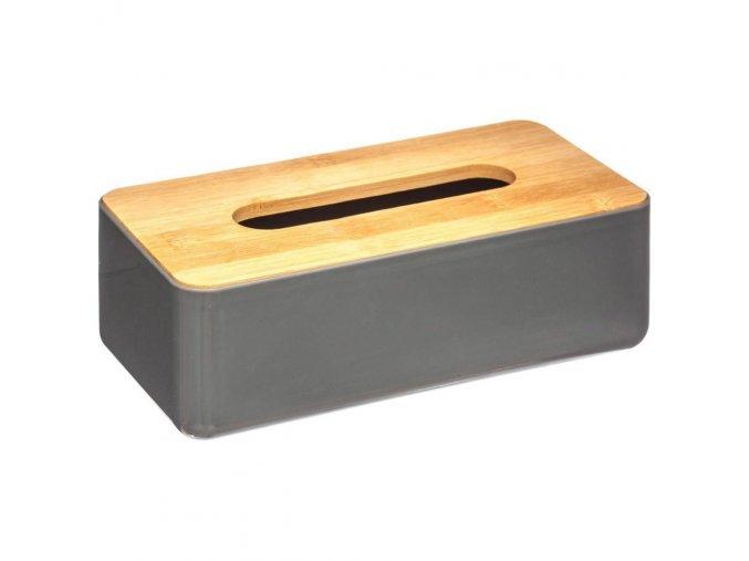 Dóza, box, krabička, dóza na papírové kapesníčky BAMBOU s bambusovým krytem