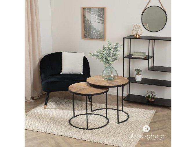 Závěsné zrcadlo v kovovém rámu zavěšené na laně, elegantní ozdoba do obývacího pokoje, průměr 37 cm