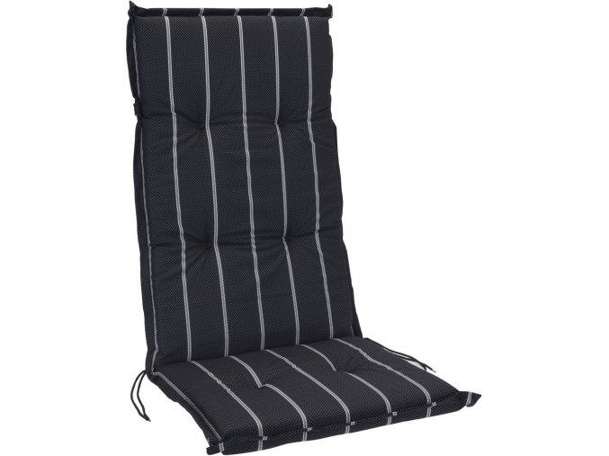 Polstr na lehátko na zavazování, černá barva s bílými proužky, 120 x 50 cm