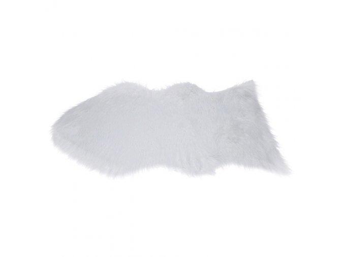 Koberec imitace kožešiny, 90 x 60 cm, bílá