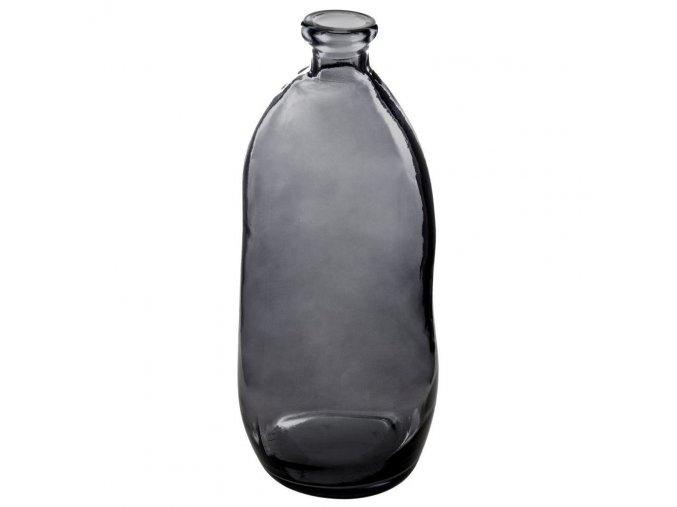 Váza z recyklovaného skla 73 cm, černá barva