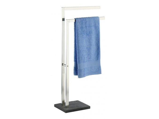 Koupelnový stojanový věšák na ručníky SLATE ROCK - 2-ramenný, WENKO