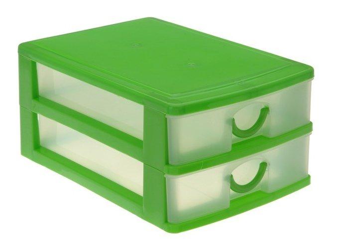 Kontejner na drobnosti RAINBOW - 2x zásuvka