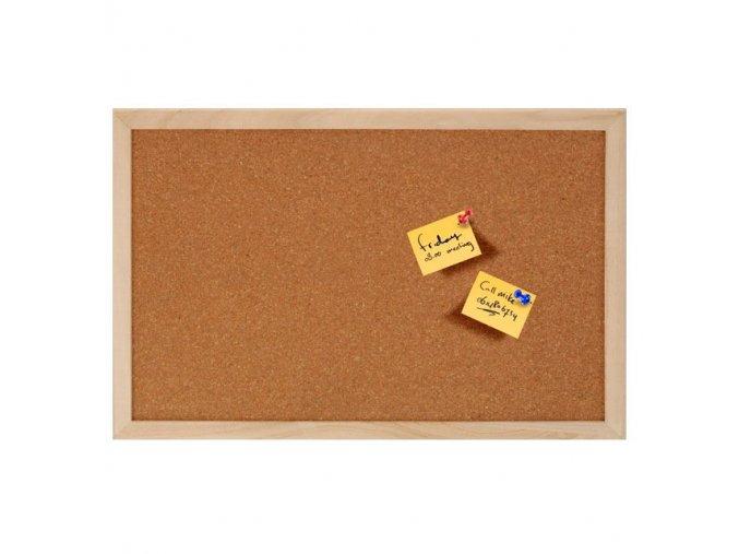 Korková tabule na poznámky, 45x30 cm