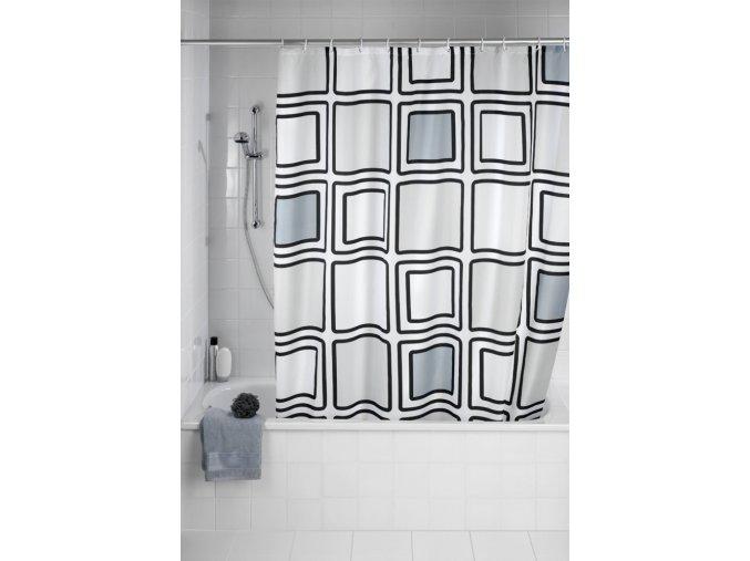 Sprchový závěs, textilní, Mono, 180x200 cm, WENKO