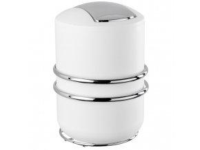 Koupelnový odpadkový koš CALI, bílá barva, 2l, 23x18 cm, WENKO