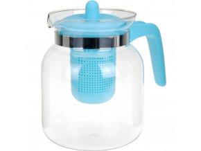 Čajová konvice CONFETTI, 1500 ml - barva modrá EH Excellent Houseware