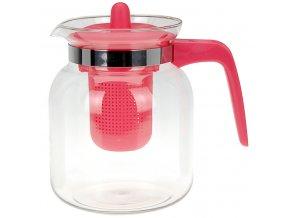Čajová konvice CONFETTI, 1500 ml - barva červená EH Excellent Houseware
