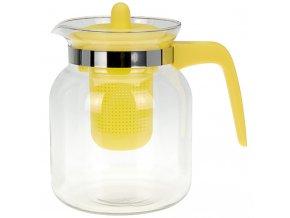 Čajová konvice CONFETTI, 1500 ml - barva žlutá