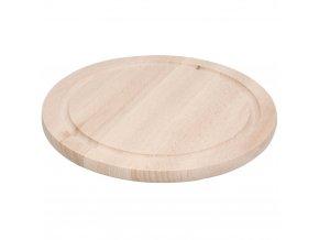 Dřevěné krájecí prkénko - kuchyňské, kruhové