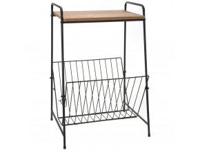 Víceúčelový kovový stolek, koš na noviny Emako