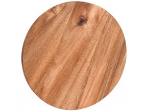 Kuchyňská deska pro krájení - kruhové, akátové dřevo,