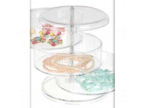 Box, organizér na kosmetiku, šperky, drobnosti - 4 patra Eleganza