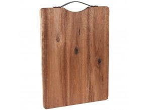 Kuchyňská deska pro krájení - obdélníkové, akátové dřevo, 42 x 32 cm