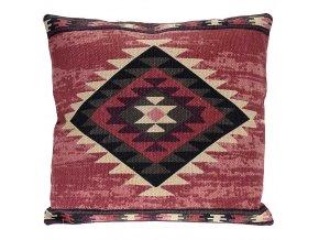 Dekorační polštář BOHO, 45 x 45 cm - barva bordová Home Styling Collection