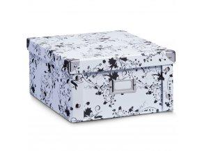 Box pro skladování WHITE FLORAL 31x26x14 CM, ZELLER