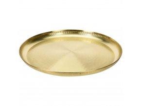 Podnos na servírování jídla, občerstvení - nerezová ocel, zlatá barva
