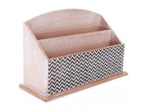 Pořadatel na kancelářský stůl WOOD - dřevěný, 3 přihrádky Emako