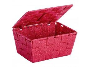 Organizér s víkem ADRIA RED, box koupelnový, WENKO