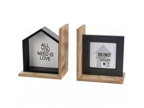 Podpěrky na knížky, fotorámeček, 2 ks Home Styling Collection