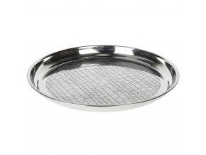Podnos na servírování jídla, občerstvení - nerezová ocel, stříbrná barva EH Excellent Houseware