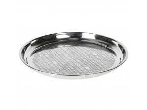 Podnos na servírování jídla, občerstvení - nerezová ocel, stříbrná barva