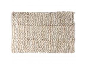 Dekorativní béžový koberec z bavlny, 120x180 cm