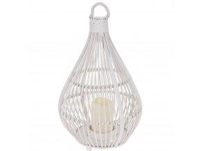 Pletená lucerna s rukojetí, svícen LED Home Styling Collection